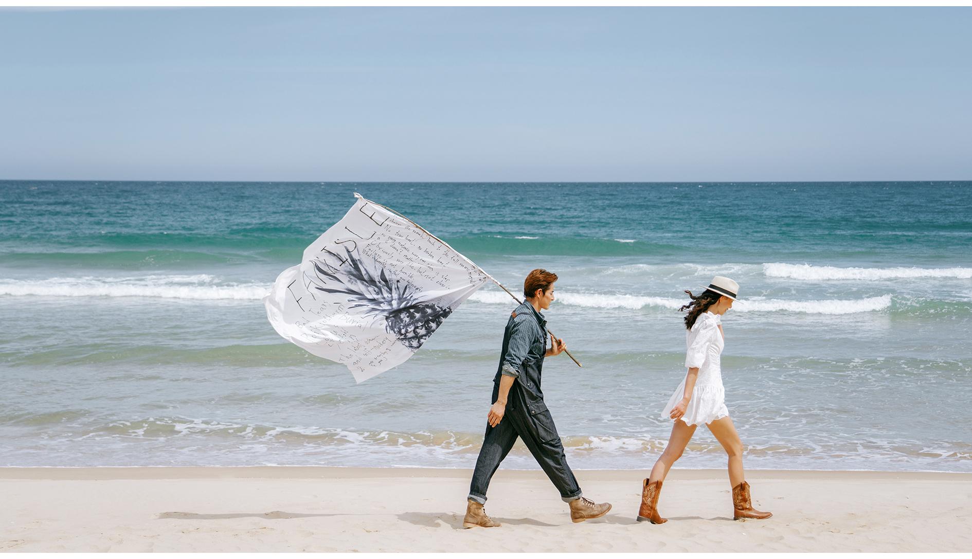 椰风摇蓝了大海